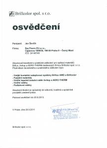 Certifikát Brillcolor